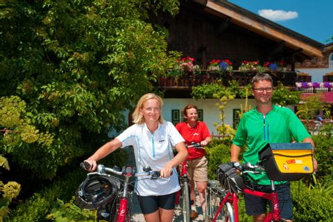 Cyclists in Garmisch-Partenkirchen