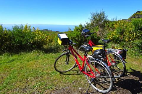 Eurobike-Räder am Hochplateau Paul da Serra