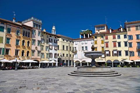 Stadtplatz in Udine