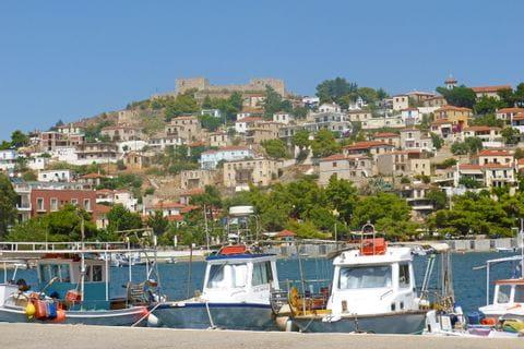 Blick auf Peloponnes