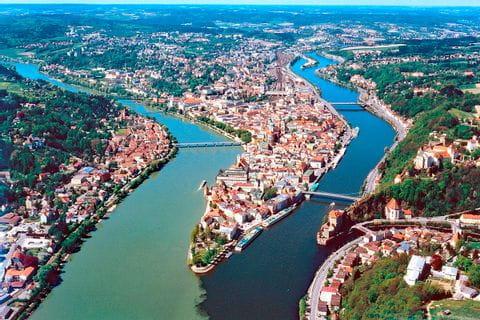 Blick auf die drei Flüsse