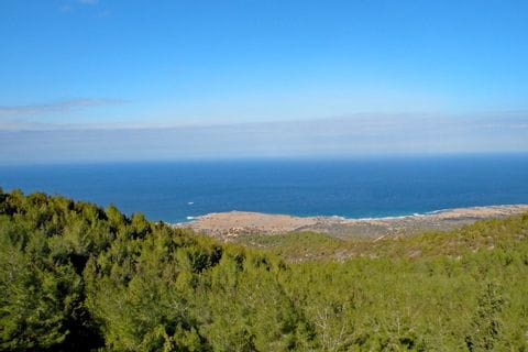 View over the coast of Cyprus
