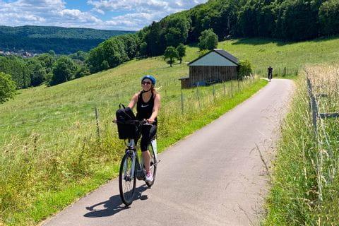 Christine beim Radfahren