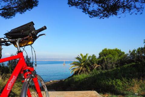 Eurobike bicycle on the coastal bike path near the Playa de Palma