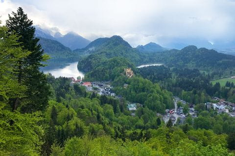 Landscape around Neuschwanstein