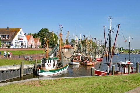 Ostfriesische Siedlung am Meer