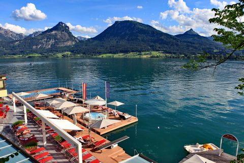 View on lake Wolfgangsee