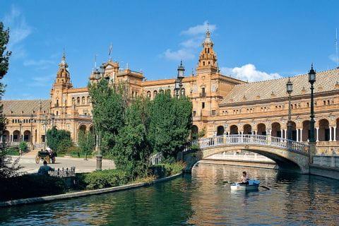 Bridge to the Plaza de Espana in Seville