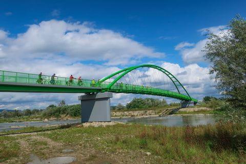 Bridge on the Dunajec bike path