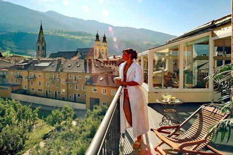 Balcony from Hotel Krone in Brixen