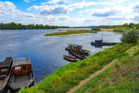 Boote an der Loire