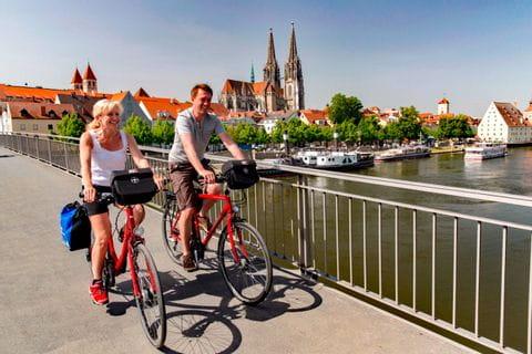 Two bikers in Regensburg