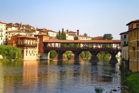 View to the Ponte degli Alpini