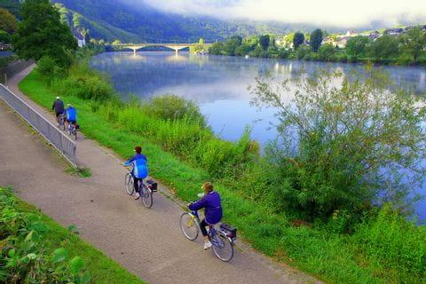 Radfahrer am Mosel-Radweg