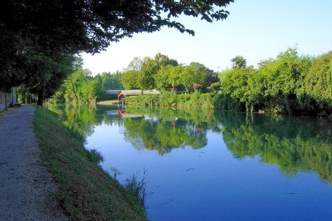 River Piave next to the cycle path