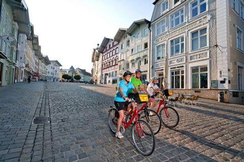 Radfahrer in Bad Tölz