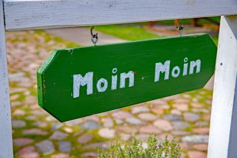 Schild Moin Moin