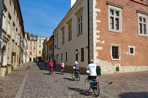 Cyclists in Krakau
