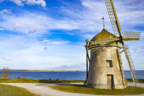 Wind mill on the island of Gotland