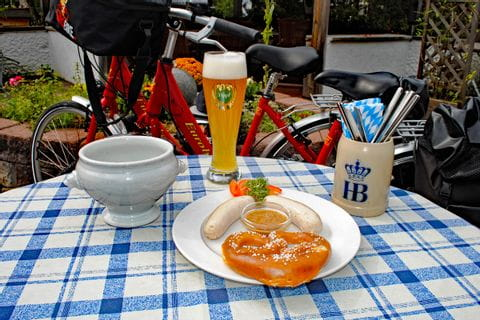 Weisswurst and wheat beer