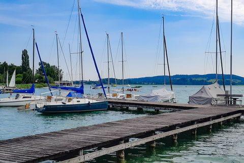 Schiffsanlegestelle im Salzburger Land