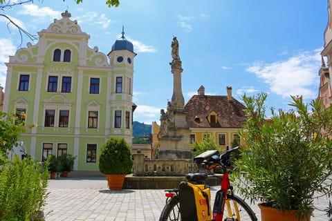 Eurobike Fahrrad am Marktplatz in Frohnleiten