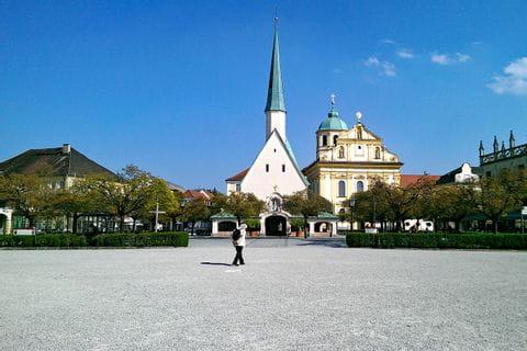Blick auf die Gnadenkapelle in Altötting