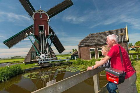 Blick auf Windmühlen