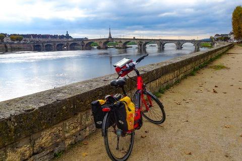 Fahrrad an der Loire
