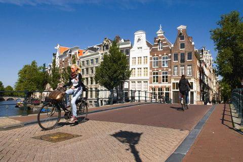 Radfahrer in Amsterdam