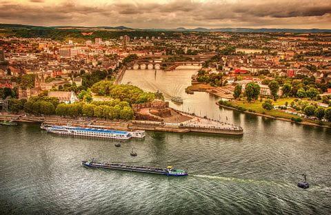River Rhine in Coblenz