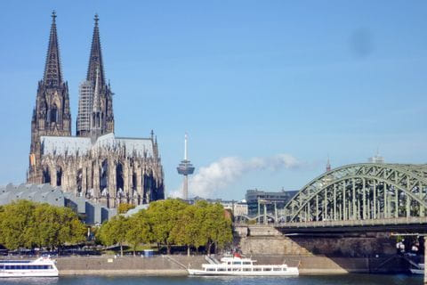 Cathedral of Cologne with River Rhine