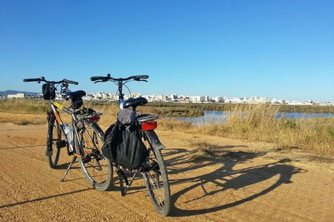Bike path with a view of Sagres