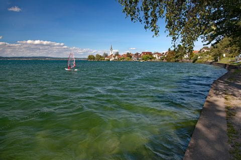 Surfer in Berlingen at Lake Constance