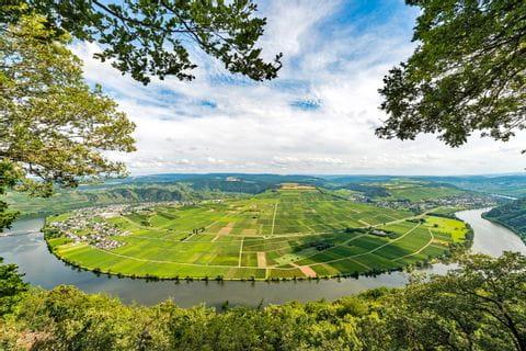 Aerial view on the river Saar