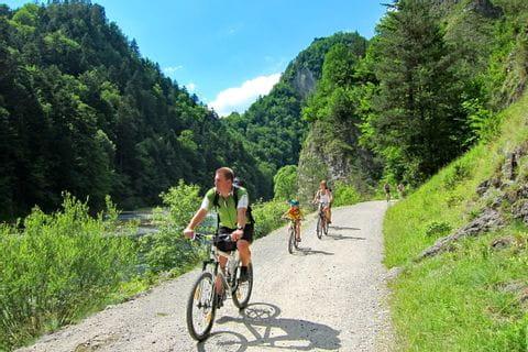 Gravel road on Dunajec bike path