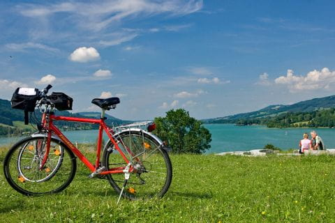 Bike at the bank of Lake Irrsee