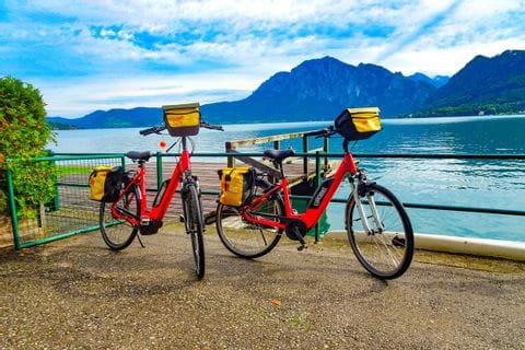 Bikes at Lake Attersee