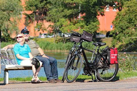 Cycle break on the tour from Berlin to Rostock