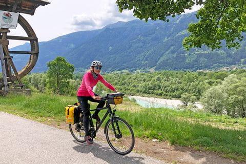 Radfahren am Alpe-Adria-Radweg