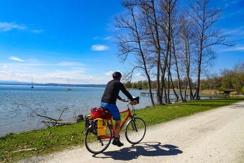 Radfahrer am Alatsee