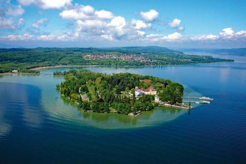 View over the island Mainau in Lake Constance