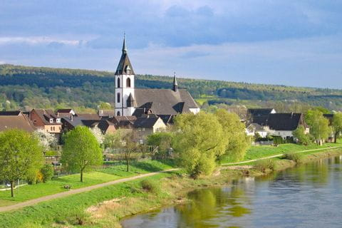 Kleiner Ort an der Weser