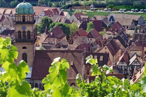 View of the city Kaysersberg