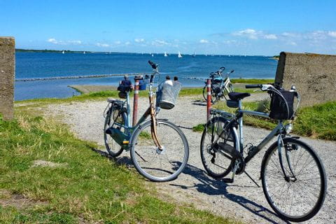 Bicycles on the coast