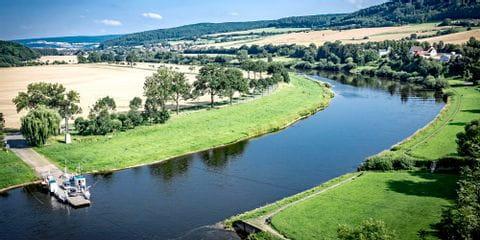 Ausblick auf die Weser