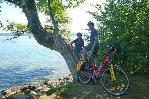 Ursula mit Mann bei der Radpause