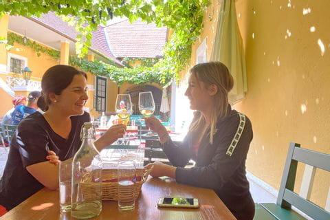 Weinverkostung am Donauradweg