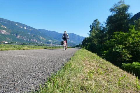 Cyclist at Alto Adige Cycle Path