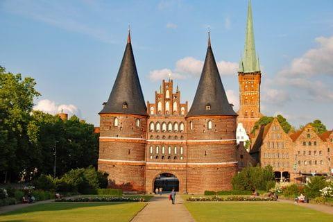 The Holsten Gate in Lübeck